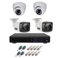 Kit Cftv 4 Camera Segurança Hd 720p Dvr Full hd 4ch - Luatek