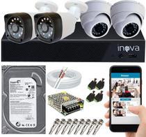 Kit Cftv 4 Câmeras De Segurança Hd 720p E Dvr 4 Canais App Xmeye - SECURITY