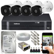 Kit Cftv 4 Câmeras de Segurança Intelbras Multi Hd 720p E Dvr Mhdx 1104 -