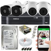 Kit CFTV 4 Câmeras Intelbras e HD 500GB -
