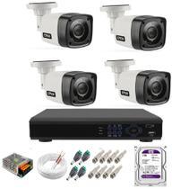 Kit Cftv 4 Câmeras Segurança 1mp 20m Dvr Full Hd 4 Ch c/ Hd 1tb - Citrox