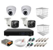 Kit Cftv 4 Câmeras Segurança 1mp 720p 20m Dvr Full Hd 4 Ch S/ Hd com acessórios - Citrox