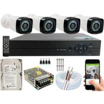 Kit Cftv 4 Câmeras Segurança 2mp 1080p 20m + Dvr  Hd 4 Canais - Luatek