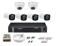 Kit cftv 6 câmeras de segurança infravermelho hd + dvr 8ch Intelbras full hd - Intelbras e FullSec