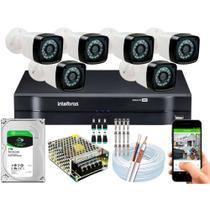 Kit Cftv 6 Cameras Seg 1080p Full Dvr 8ch 1108 Intelbras 1tb - Intelbras/Jortan