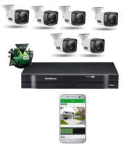 Kit Cftv 6 Cameras Segurança  Hd Dvr Intelbras 1108 S/ HD -