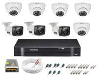 Kit cftv 8 cameras de segurança infravermelho hd + dvr 8ch Intelbras full hd -