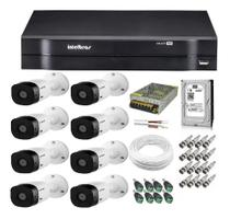 Kit Cftv 8 Câmeras Hd Vhl 1120b 20m Dvr 8 Canais Intelbras / Monitoramento Residencial E Comercial -