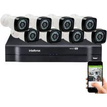 Kit Cftv 8 Cameras Segurança  Hd Dvr Intelbras 1108 S/ HD -