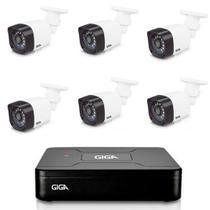 Kit Cftv Giga DVR Gs0082  Com 6 Cameras de Segurança Gs0020 -