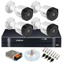 Kit CFTV Intelbras 4 Câmeras -