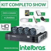 Kit cftv intelbras completo alta definição 4 câmeras hd -