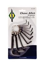 Kit Chave Allen Brasfort 1,5 a 10mm 10pc -