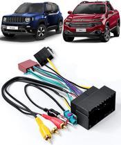 Kit Chicote de Ligação + Chicote Adaptador de Antena Jeep Renegade 2015 2016 2017 2018 Fiat Toro 2016 2017 2018 Novo Bravo 2015 2016 2017 2018 - Expex
