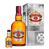Kit Chivas Regal 12 Anos Litro + Chivas Regal 12 Anos 50ml (miniatura) -