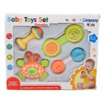 Kit Chocalho 4 Pçs brinquedo Bebe - Shantou Toys