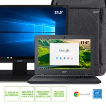"Kit:Chromebook Acer C731-C9DA Celeron 4GB 32 eMMC 11.6"" ChromeOS+Monitor Acer 21.5"