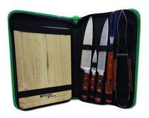 Kit churrasco inox 8 peças - palisad camping -