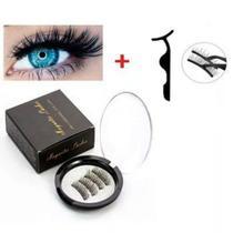 kit cílios magnéticos 3 imãs olho inteiro e pinça - Bcs