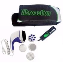 Kit Cinta Vibroaction + Massageador Orbital 110v Corporal Portatil Elétrico Relax - Dc importação
