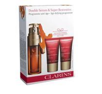 Kit Clarins Double Serum Facial 30ml + Haute Exigence Jour FPS 20 15ml + Haute Exigence Nuit 15ml -