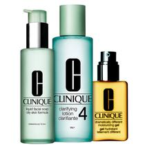 Kit Clinique Sistema 3 Passos Pele 4 Extra (3 produtos) -