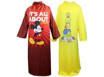 Kit Cobertor com Manga 2 Unidades - Mickey + Os Simpsons Master Comfort