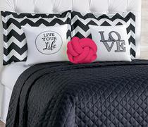 Kit cobre leito casal padrão 8 peças isabela - nó pink - M&C ENXOVAIS
