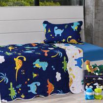 Kit Cobre Leito Casal + Porta Travesseiro Infantil Dinossauros - Bene Casa -