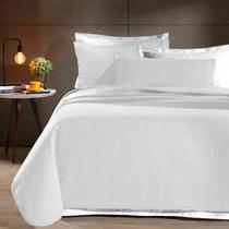 Kit: Cobre leito Colcha Queen Neomalha Ultra Soft Matelassê + 2 Porta Travesseiros Branco - Hedrons