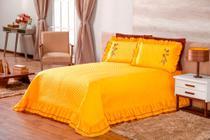 kit cobre leito ester quarto casal queen 3 peças  amarelo - Aquarela