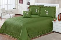 kit cobre leito eva quarto casal queen 5 peças  verde musgo - Aquarela