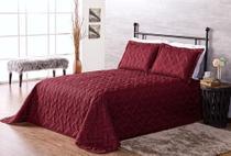 kit cobre leito novo clean dupla face quarto casal 3 peças  vinho - Aquarela