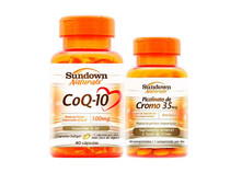 Kit Coezima Q10 40 Cáps + Picolinato de Cromo 90 Cáps Sundown - Sundown naturals vitaminas
