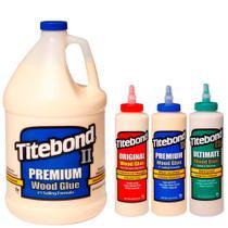 Kit Cola p/ Madeira Original + Premium+Ultimate 473ml+Premium 4,1Kg-Titebond-4Un -