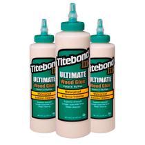 Kit Cola para Madeira III Ultimate Wood Glue-6004528-Titebond-473 ml 3 Unidades -