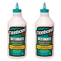 Kit Cola para Madeira III Ultimate Wood Glue-6004529-Titebond-946ml-2 Unidades -