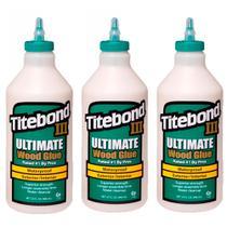 Kit Cola para Madeira III Ultimate Wood Glue-6004529-Titebond-946ml-3 Unidades -