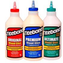 Kit Cola para Madeira Original + II Premium + III Ultimate- Titebond- 3Un -946ml -