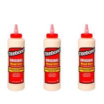 Kit Cola para Madeira Original Wood Glue- 6004530- Titebond- 473 ml - 3 Unidades -