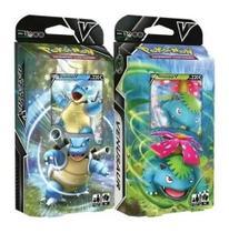 Kit Coleção Pokémon 2 Deck Batalha V Blastoise  e Venusaur - Copag