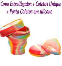 Kit Coletor Menstrual UNIQUE 60ml + Copo Esterilizador Unicorn Lumma -
