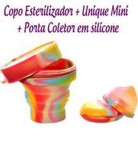Kit Coletor Menstrual UNIQUE MINI 30ml + Copo Esterilizador Unicorn -