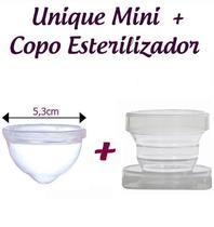Kit Coletor Menstrual UNIQUE MINI 30ml + Copo Esterilizador -