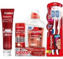 Kit Colgate Creme Dental 140g + Escova Dental Leve 2 Pg 1 + Enxaguante Bucal 500ml - Grátis 1 Creme -