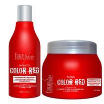 Kit Color Red Manutenção Cabelos Vermelhos Forever Liss -