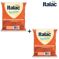 Kit com 02 Bag Leite Condensado Semi Desnatado Italac 2,5kg -