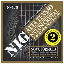 Kit Com 02 Jogos De Cordas Nig Violão Nylon Tensão Pesada -