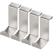 Kit Com 04 Ganchos Para Porta Metalico Cabide Cozinha Gancho - Zanline