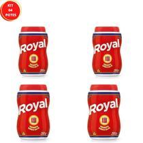 Kit com 04 Potes Fermento em Pó Royal Quimico 250g -
